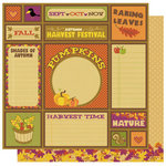 Best Creation Inc - Hello Fall Collection - 12 x 12 Double Sided Glitter Paper - Harvest Time Tags