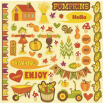 Best Creation Inc - Hello Fall Collection - Glitter Cardstock Stickers - Element
