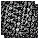 Best Creation Inc - Happy Haunting Collection - Halloween - 12 x 12 Double Sided Glitter Paper - Black Magic