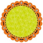 Best Creation Inc - Happy Haunting Collection - Halloween - 12 x 12 Die Cut Glitter Paper - Wings and Webs