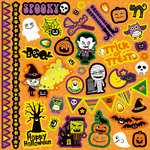 Best Creation Inc - Happy Haunting Collection - Halloween - Glitter Cardstock Stickers - Element