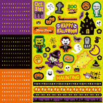 Best Creation Inc - Happy Haunting Collection - Halloween - Glitter Cardstock Stickers - Combo