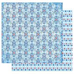 Best Creation Inc - I Love America Collection - 12 x 12 Double Sided Glitter Paper - Uncle Sam