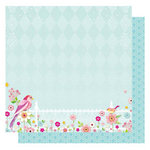 Best Creation Inc - It's Spring Collection - 12 x 12 Double Sided Glittered Paper - It's Spring