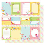 Best Creation Inc - It's Spring Collection - 12 x 12 Double Sided Glittered Paper - Spring Tags