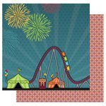 Best Creation Inc - Loops and Scoops Collection - 12 x 12 Double Sided Glitter Paper - My Favorite Ride