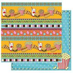 Best Creation Inc - Loops and Scoops Collection - 12 x 12 Double Sided Glitter Paper - Treats and Eats