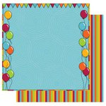 Best Creation Inc - Loops and Scoops Collection - 12 x 12 Double Sided Glitter Paper - Admit One