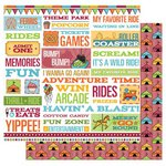 Best Creation Inc - Loops and Scoops Collection - 12 x 12 Double Sided Glitter Paper - Havin' A Blast!