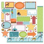 Best Creation Inc - Loops and Scoops Collection - 12 x 12 Double Sided Glitter Paper - Fun Zone