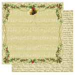 Best Creation Inc - Merry Christmas Collection - 12 x 12 Double Sided Glitter Paper - A Christmas Carol