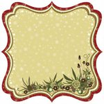 Best Creation Inc - Merry Christmas Collection - 12 x 12 Die Cut Glitter Paper - Christmas Joy