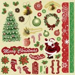 Best Creation Inc - Merry Christmas Collection - Glitter Cardstock Stickers - Element