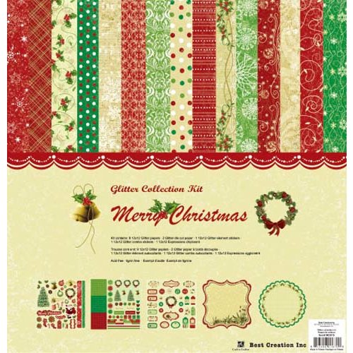 Best Creation Inc - Merry Christmas Collection - 12 x 12 Glittered Collection Kit