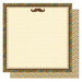 Best Creation Inc - My Hero Collection - 12 x 12 Double Sided Glittered Paper - Mustache Fun