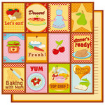Best Creation Inc - Mom's Kitchen Collection - 12 x 12 Double Sided Glitter Paper - Homemade