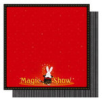 Best Creation Inc - Magic Show Collection - 12 x 12 Double Sided Glitter Paper - Magic Show