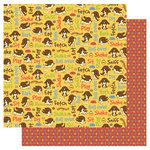 Best Creation Inc - Puppy Love Collection - 12 x 12 Double Sided Glitter Paper - Tricks and Treats