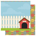 Best Creation Inc - Puppy Love Collection - 12 x 12 Double Sided Glitter Paper - Dog House