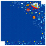Best Creation Inc - Robot Collection - 12 x 12 Double Sided Glitter Paper - Alien Shuttle