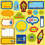 Best Creation Inc - Robot Collection - Expressions - Die Cut Chipboard Pieces