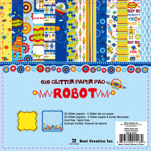 Best Creation Inc - Robot Collection - 6 x 6 Paper Pad