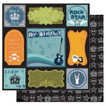 Best Creation Inc - Rock Star Collection - 12 x 12 Double Sided Glitter Paper - Rockin Out