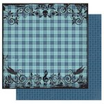Best Creation Inc - Rock Star Collection - 12 x 12 Double Sided Glitter Paper - Punk Plaid