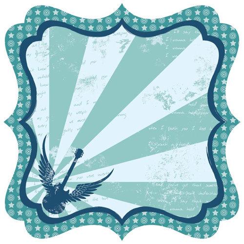 Best Creation Inc - Rock Star Collection - 12 x 12 Die Cut Glitter Paper - Spirit In The Sky