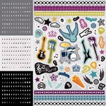 Best Creation Inc - Rock Star Collection - Glitter Cardstock Stickers - Combo