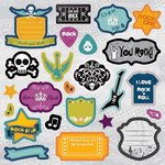 Best Creation Inc - Rock Star Collection - Expressions - Die Cut Chipboard Pieces