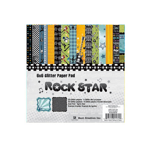 Best Creation Inc - Rock Star Collection - 6 x 6 Paper Pad