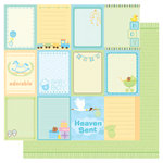 Best Creation Inc - Sweet Baby Collection - 12 x 12 Double Sided Glitter Paper - Baby Boy Tags