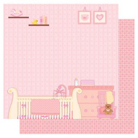 Best Creation Inc - Sweet Baby Collection - 12 x 12 Double Sided Glitter Paper - Sweet Dream