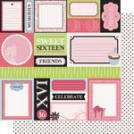 Best Creation Inc - Sixteen Candles Collection - 12 x 12 Double Sided Glitter Paper - Making Memories