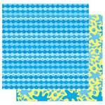 Best Creation Inc - Splash Fun Collection - 12 x 12 Double Sided Glitter Paper - A Wave Of Fun
