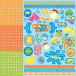 Best Creation Inc - Splash Fun Collection - Glitter Cardstock Stickers - Combo