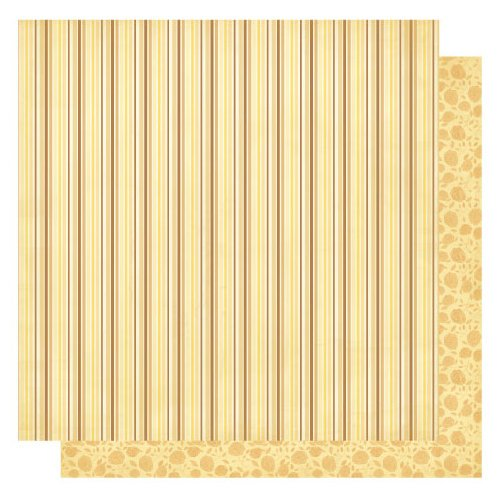 Best Creation Inc - Sew Pretty Collection - 12 x 12 Double Sided Glitter Paper - Sew Pretty Stripes