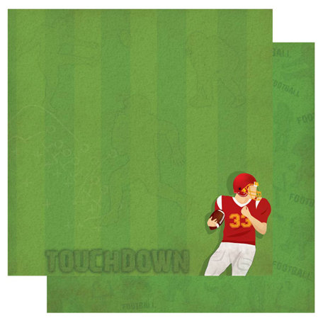 Best Creation Inc - Touchdown Collection - 12 x 12 Double Sided Glitter Paper - Blitz
