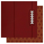 Best Creation Inc - Touchdown Collection - 12 x 12 Double Sided Glitter Paper - Football