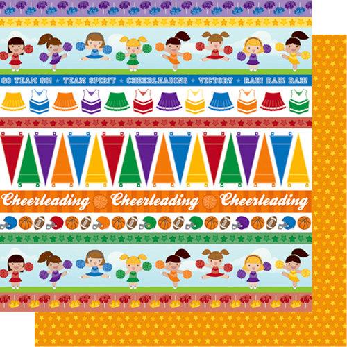 Best Creation Inc - Team Spirit Collection - 12 x 12 Double Sided Glitter Paper - Rah! Rah! Rah!