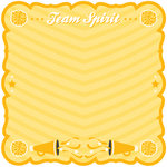 Best Creation Inc - Team Spirit Collection - 12 x 12 Die Cut Glitter Paper - Team Spirit