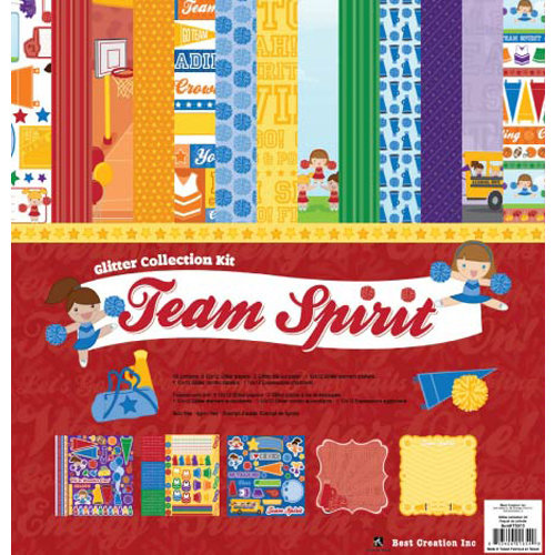 Best Creation Inc - Team Spirit Collection - 12 x 12 Glittered Collection Kit