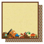Best Creation Inc - Under Construction Collection - 12 x 12 Double Sided Glittered Paper - Dig Dig