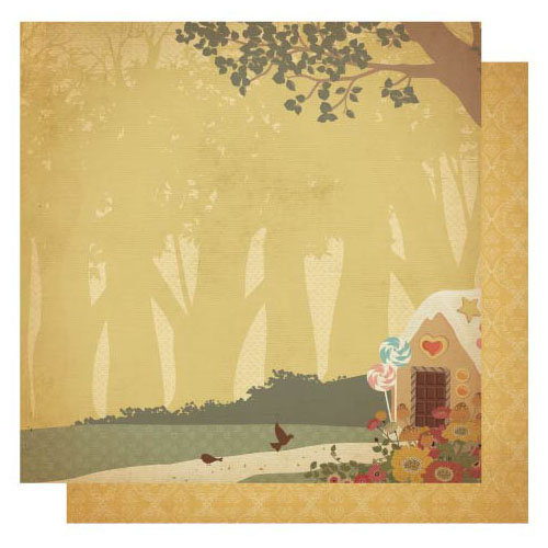 Best Creation Inc - Vintage Story Collection - 12 x 12 Double Sided Glitter Paper - Fairy Tale