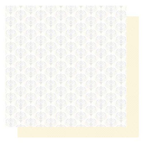 Best Creation Inc - Wedding Day Collection - 12 x 12 Double Sided Glittered Paper - Forever and Ever