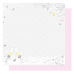 Best Creation Inc - Wedding Day Collection - 12 x 12 Double Sided Glittered Paper - Wedding Day