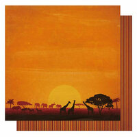 Best Creation Inc - Wild Life Collection - 12 x 12 Double Sided Glitter Paper - Wild Kingdom