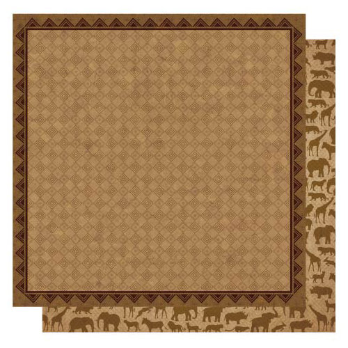 Best Creation Inc - Wild Life Collection - 12 x 12 Double Sided Glitter Paper - Expedition