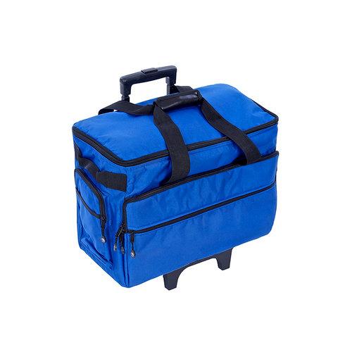 Bluefig Cobalt Blue Wheeled Sewing Machine Carrier Unique Sewing Machine Carriers With Wheels